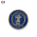 Sell metal blue enamel coin