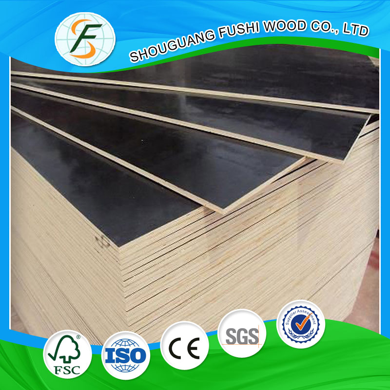 Shuttering Plywood Type Black Film Faced Plywood 12mm