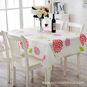 Plastic White Vinyl Table Cloth