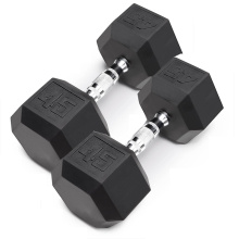 Discount Price for Weight Lifting Rubber Dumbbell 45LB Black Rubber Hex Dumbbell supply to Azerbaijan Supplier