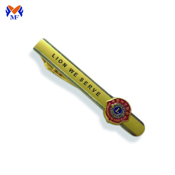 School logo tie clip with gift box