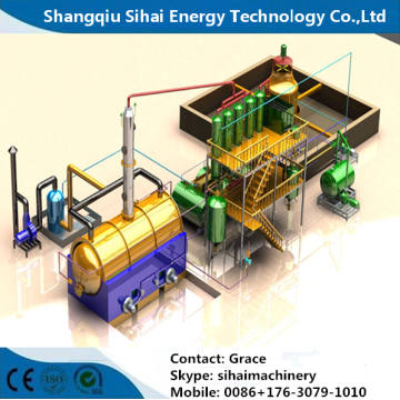 Car Engine Oil Refining Distillation Machine