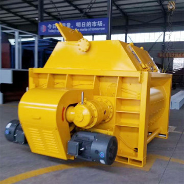 Central building 1500l double shaft js concrete mixer
