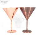 304 Copper Stainless Steel Martini Cocktail Glasses