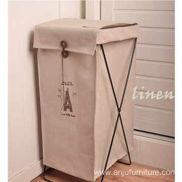cotton storage baskets and bins folding laundry basket