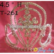 Rhinestone snow flower Pageant Crowns