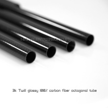 3K Twill/Plain glossy carbon fiber pipes
