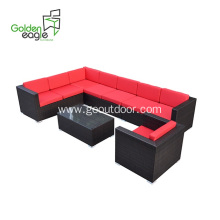 5pcs garden furniture wicker outdoor sofa