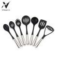 7PC Nylon Utensil Set Stainless Steel Handle