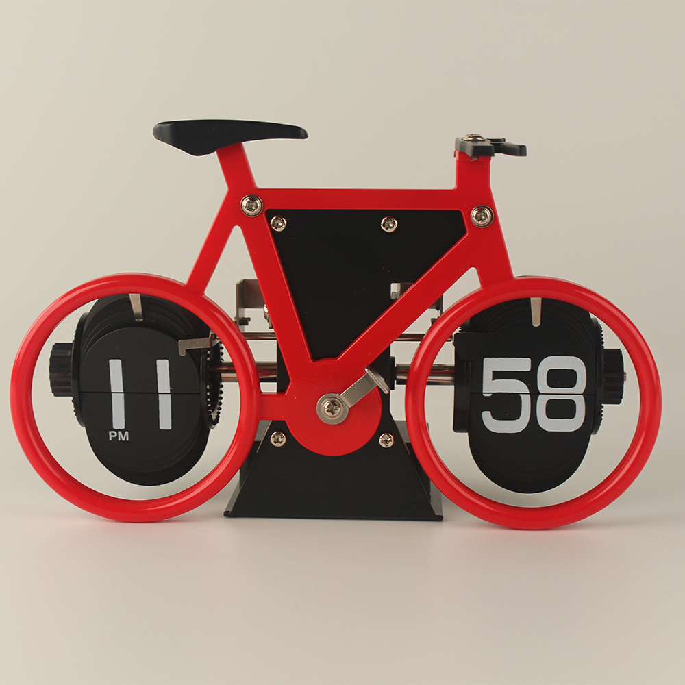 3D Bike-shape Flip Desk Clock