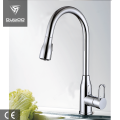 Chrome deck mounted kitchen tap faucet mixer