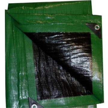 Green Black Color HDPE Tarpaulin Sheet