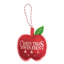 Christmas apple shape pendant ornaments