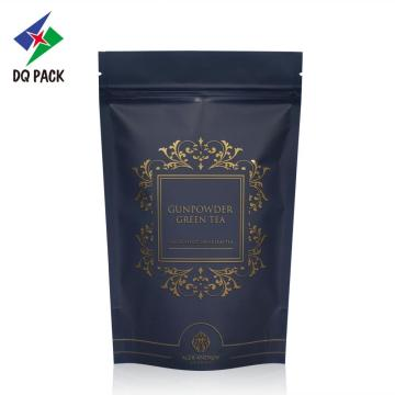 Tea stand up packaging bag with zipper