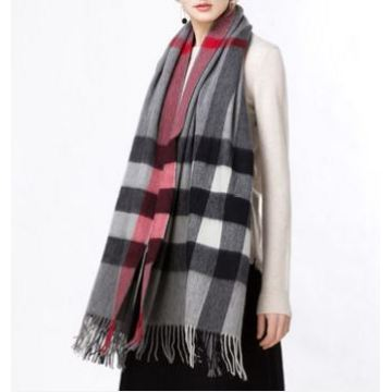 Pure cashmere plaids throw