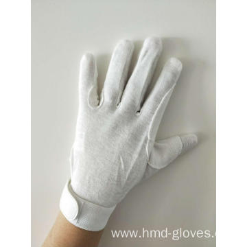 Deluxe White Sure Grip Gloves with Velcro closure