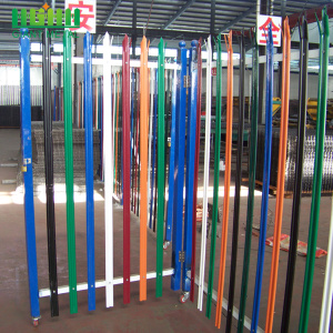 Factory Multiple Color Powder Coated Steel Palisade Fence