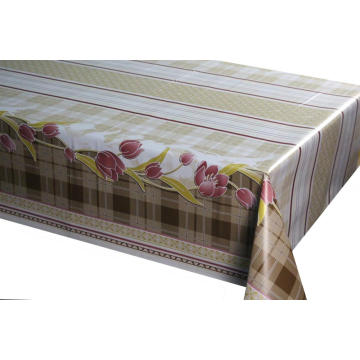 Poly-vinyl Tablecloth with Non-woven Back