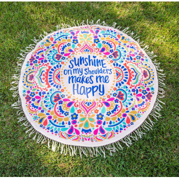 Microfiber Circle Printing Beach Towel