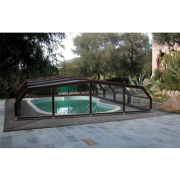 Rigid Swimming Roof Enclosure Retractable Pool Cover
