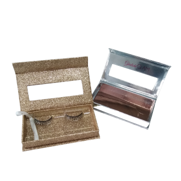Shiny Silver Clear Window Eyelash Paper Box