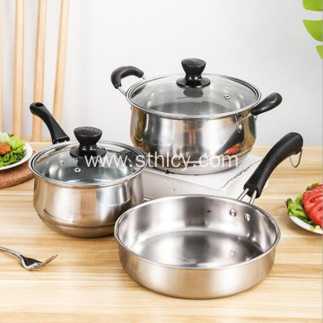 Pangkabuhayan At Praktikal na Hindi kinakalawang na Asero sa Cookware Set