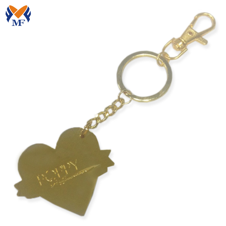 Heart Keychain Personalized