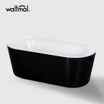 Dualita Bath tub in Black and White