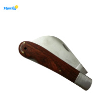 China for Folding Knife Polished Wood Inlay Handle  Pocket Knife export to Poland Manufacturers