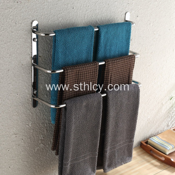 Bathroom towel rack towel bar