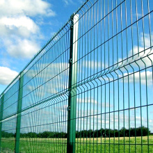 Best Price for for China Fence Netting,Deer Fence,Welded Wire Fence Supplier Green Metal Frame Welded Railway Fence export to Poland Factory