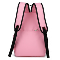 Lady zipper canvas backpack