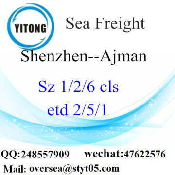 Shenzhen Port LCL Consolidation To Ajman