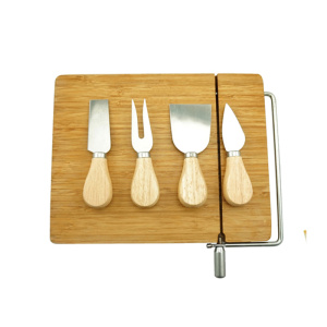 Wholesale price stable quality for Cheese Tools Set 5PCS Cheese Knife Set with Bamboo Cutting Board export to Germany Wholesale