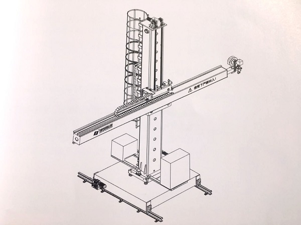 Super Heavy Square Guide Rail Welding Column And Boom 4