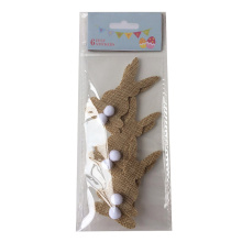 Easter burlap bunny shape sticker