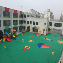 Kids Playground Outdoor PP Sports Flooring