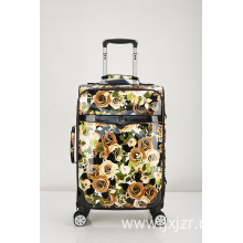 Business PU Leather Trolley Luggage