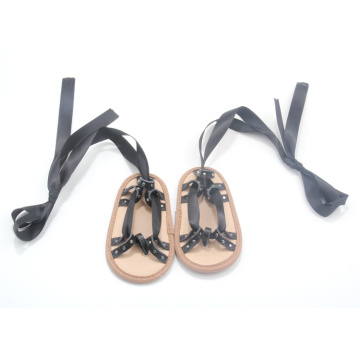 Lace  Baby Shoes Flat Leather Infant Sandals