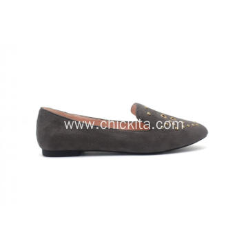 Fixed Competitive Price for Ladies Flats Shoes Classic Heat Seal Shoes Pointed Toe Flats export to Spain Factories
