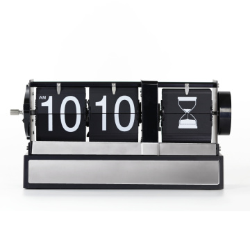 Best Quality for Table Clock Modern Auto Flip Clock with Hourglass Decoration export to Belarus Supplier
