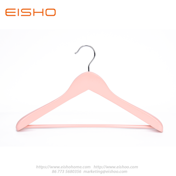 EISHO Large Pink Wood Suit Coat Hanger