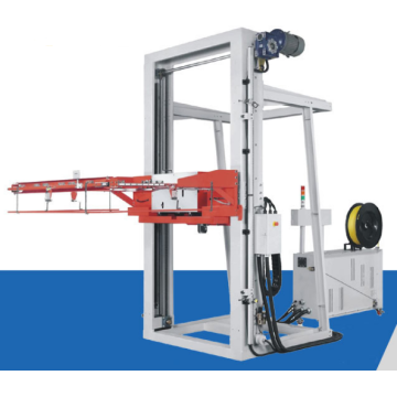 Automatic vertical pallet strapping machine