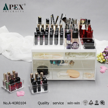 Customized for Acrylic Cosmetic Organizer Acrylic Bathroom Beauty Organizers Storage supply to Poland Manufacturer