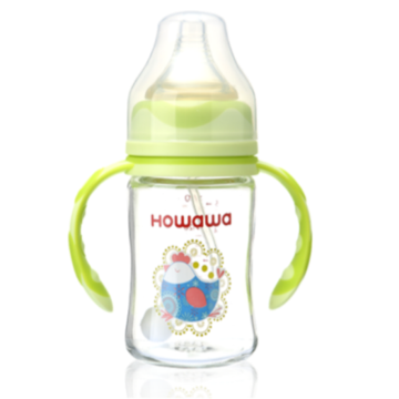 6oz Infant Glass Milk Feeding Bottle