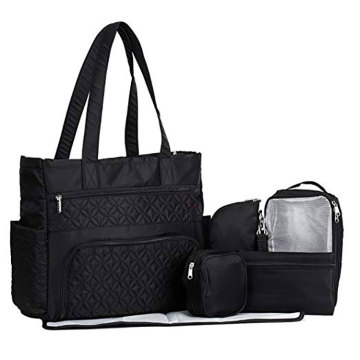 Baby Diaper Storage Bag Includes Changing Mat Stroller Straps