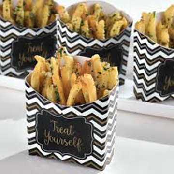 Disposable paper cheap french fries boxes holder