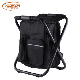 Upkeep Portable Camping Folding Chair With Cooler Bag
