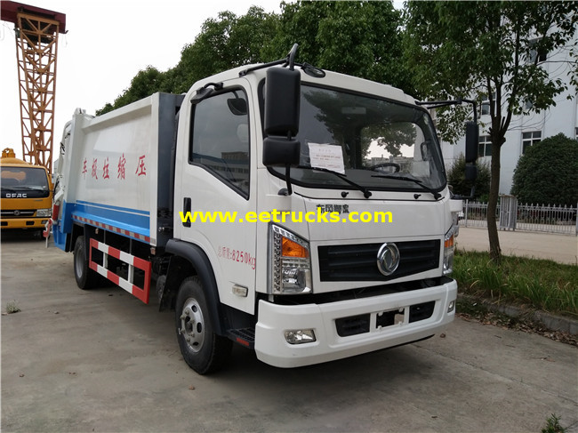 105HP 5000L Compression Garbage Trucks