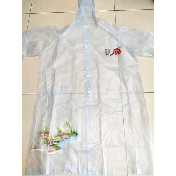 long style transparent Frosted surface adult pvc raincoat